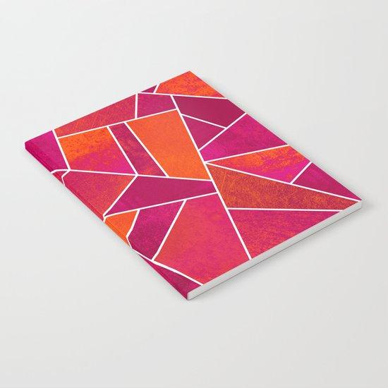 Hot Pink & Orange stone Notebook