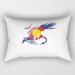 Colorado Fly Fishing Hook Flag River Men Rectangular Pillow