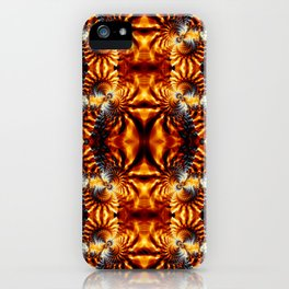 Fractal Art - Fire Pattern I iPhone Case