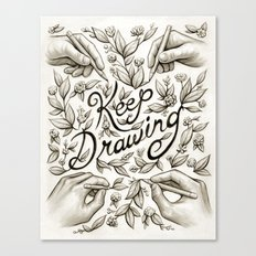 Keep Drawing Canvas Print