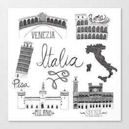 Italian Landmarks Canvas Print