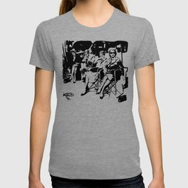 SPECIAL GIFTS A FAMOUS BREAKFAST MOVIE SCENE FROM THE 1960'S GIFTS FOR ALL FROM MONOFACES T-shirt
