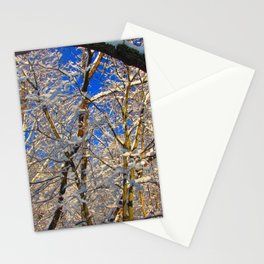 Morning snow Stationery Cards