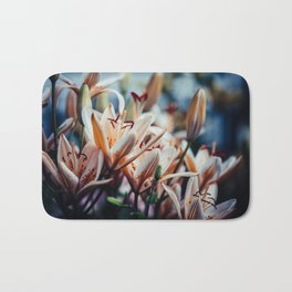 Lilies in Shadow, from my floral photography collection Bath Mat