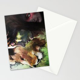 Rock, Paper, Knife Fight! Stationery Cards