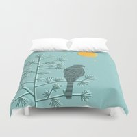 watch Duvet Covers featuring Night Watch by Jenny Tiffany