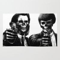 pulp Area & Throw Rugs featuring Pulp Fiction by Motohiro NEZU
