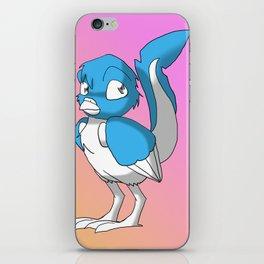 Light Blue/Color-Or-Paint-Your-Own Reptilian Bird 4 #ArtofGaneneK #Animal iPhone Skin