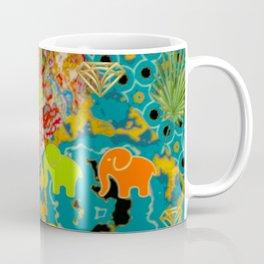 Elephants And Diamonds. Artistic Patchwork Pattern Coffee Mug