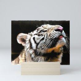 Tiger and Light Mini Art Print