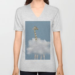 Giraffe in cloud Unisex V-Neck