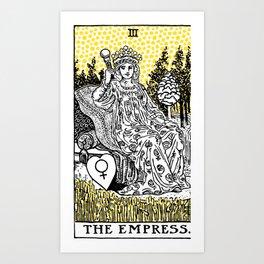 Modern Tarot Design - 3 The Empress Art Print