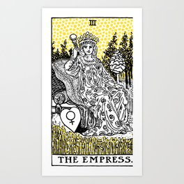 Modern Tarot Design - 3 The Empress Art Print