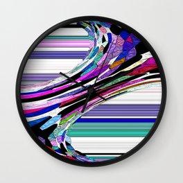 Melting Colors Of Summer Abstract Wall Clock