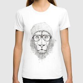 Cool lion (bw) T-shirt