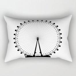 London Wheel Silhouette Rectangular Pillow