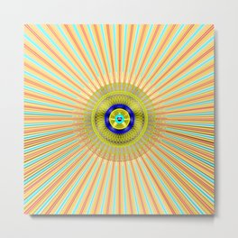 Starburst Radiant Light Metal Print