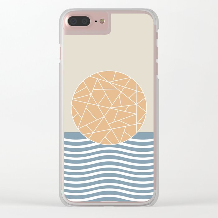 MAYBE THE SEA (abstract geometric) Clear iPhone Case