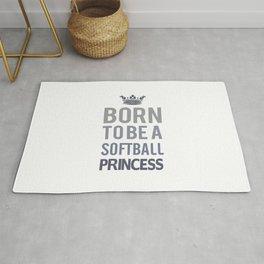 Born To Be A Softball Princess Rug