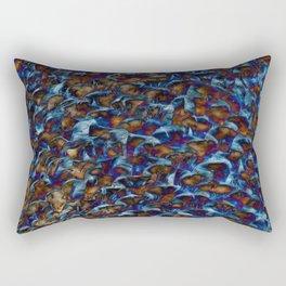 Blue Tones Texture Rectangular Pillow