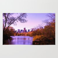 central park Area & Throw Rugs featuring Central Park by Anna Andretta