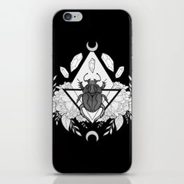 Scarab Queen // Black & White iPhone Skin