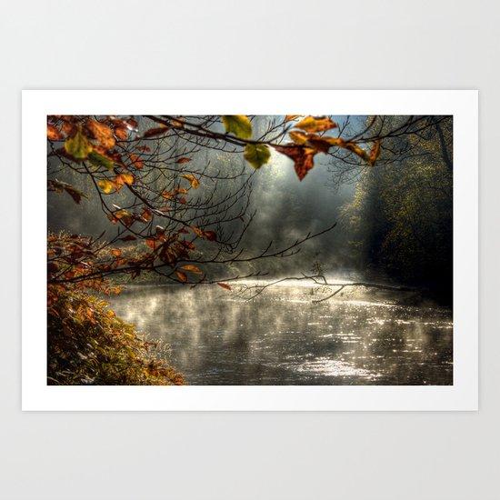 autumn light serenity Art Print
