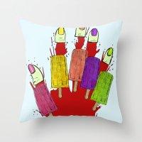 dexter Throw Pillows featuring DEXTER by Gianluca Floris