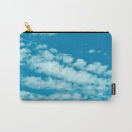 Beautiful blue sky and fluffy clouds Carry-All Pouch