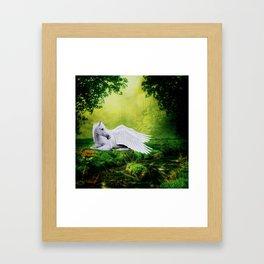 Pegasus By The Stream Framed Art Print