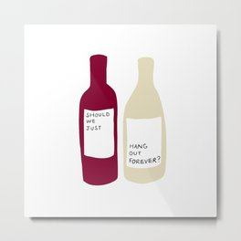 Love wine Metal Print