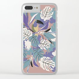 TOUCAN AND LEAVES Clear iPhone Case