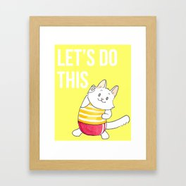Lupin Motivational Poster Framed Art Print