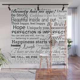 Good vibes happy thoughts Wall Mural