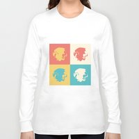 merlin Long Sleeve T-shirts featuring Multicolor Pendragon, Merlin by carolam