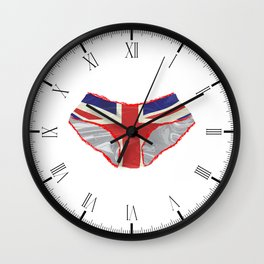 Union Jack Knickers Wall Clock