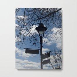 Maplewood - Sign post - blue sky Metal Print