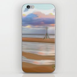 The Beach at Sunset (Digital Art) iPhone Skin