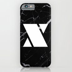 Black Marble - Alphabet X Slim Case iPhone 6s