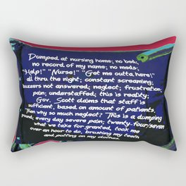 Nursing Home Poem Rectangular Pillow