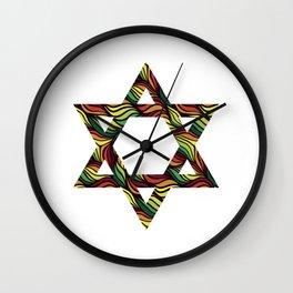 Star of David (Zion) Rasta Wall Clock