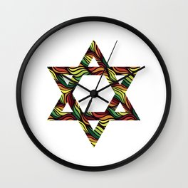 Star of David (Zion) Rasta Wall Clock