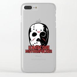 Hardcore Motherf*cker Rave Quote Clear iPhone Case