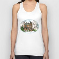 victorian Tank Tops featuring Victorian Winter by Shelley Ylst Art