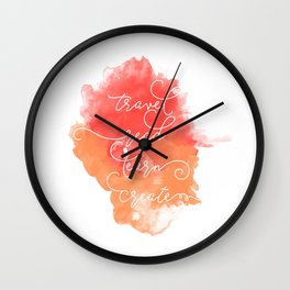 Travel Read Learn Create Wall Clock
