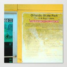 #HAZARDOUS SPORT - SKATE PARC ORLANDO, USA by Jay Hops Canvas Print