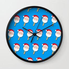 santa clause bubble gum ice cream Wall Clock