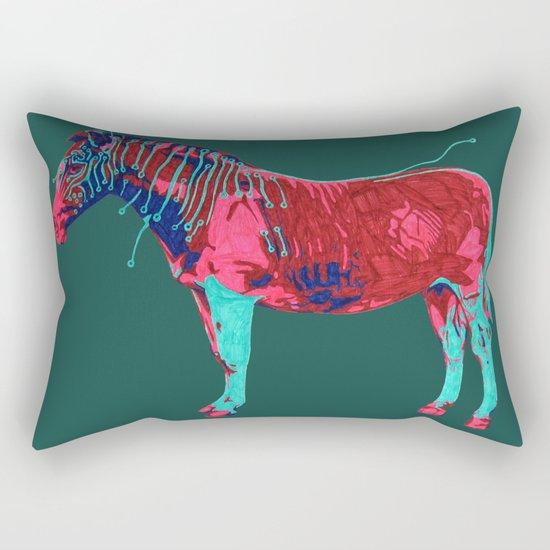 Electric Quagga Rectangular Pillow