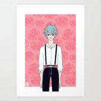 kuroko Art Prints featuring Kuroko by Liyu