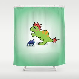 Gobi (and Bugsy) Shower Curtain